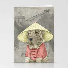 Shar Pei On The Great Wa… Stationery Cards