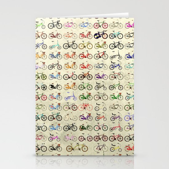 Bikes Stationery Card
