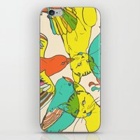 CATS AND BIRDS iPhone & iPod Skin