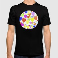 garlands of hearts  Mens Fitted Tee Black SMALL