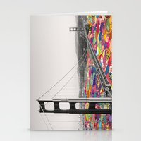 waves Stationery Cards featuring It's in the Water by Bianca Green