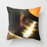 Vinyl 2 Throw Pillow