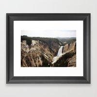 YELLOWSTONE WATERFALLSS Framed Art Print