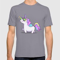 Fabulous Unicorn Mens Fitted Tee Slate SMALL