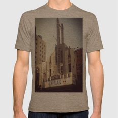 Pantages Mens Fitted Tee Tri-Coffee SMALL