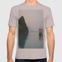 Smooth Waters Mens Fitted Tee Cinder SMALL