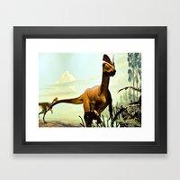 Dilophosaurus Framed Art Print