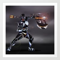 Black Ranger Art Print