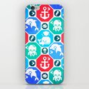 Marine Animals Geometric Pattern iPhone & iPod Skin