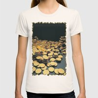 Gold Coins Womens Fitted Tee Natural SMALL