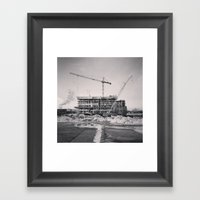 Winter Construction Framed Art Print
