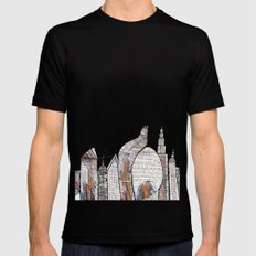 City Mens Fitted Tee Black SMALL