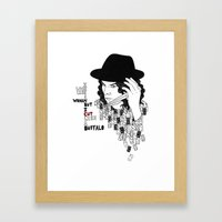 Jack White Cuts Like A B… Framed Art Print