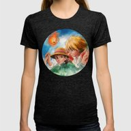 Sophie And Howl From How… Womens Fitted Tee Tri-Black X-LARGE
