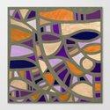 Gaudy Gaudi orange & purple Canvas Print