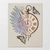 Le Temps Passe Vite (Tim… Canvas Print