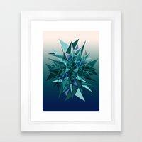 Cracked Icicles Framed Art Print