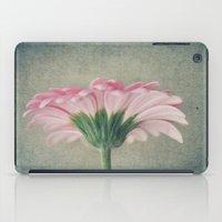 Flat Pink Gerbera Textured iPad Case