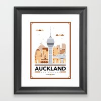 City Illustrations (Auck… Framed Art Print