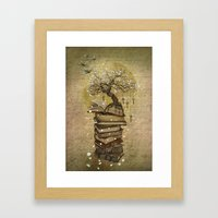 Knowledge Is The Key Framed Art Print