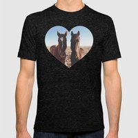 Horse Friends Mens Fitted Tee Tri-Black SMALL