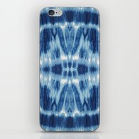 Tie Dye Blues Twos iPhone & iPod Skin