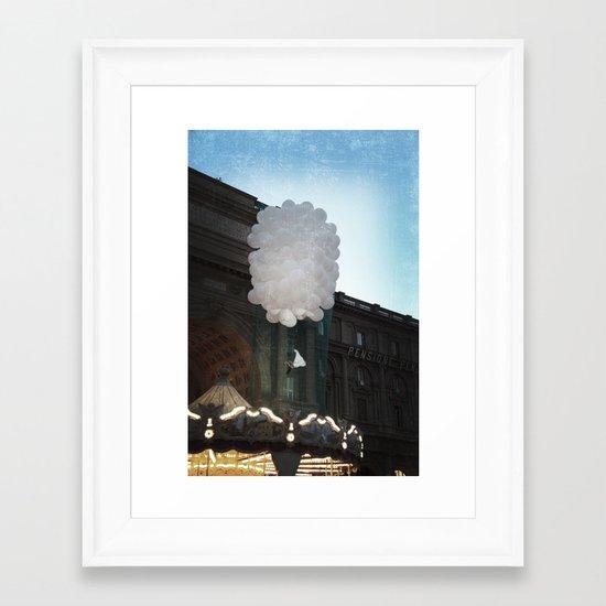 balloon girl Framed Art Print