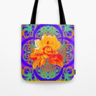 Vibrant Color Yellow-Ora… Tote Bag