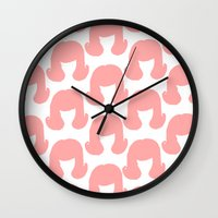 Pink Bouffants Wall Clock