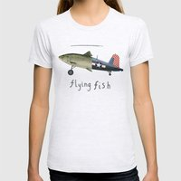 Flying Fish Womens Fitted Tee Ash Grey SMALL