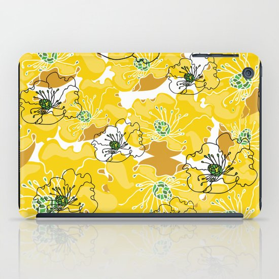 yellow marzipan flowers iPad Case