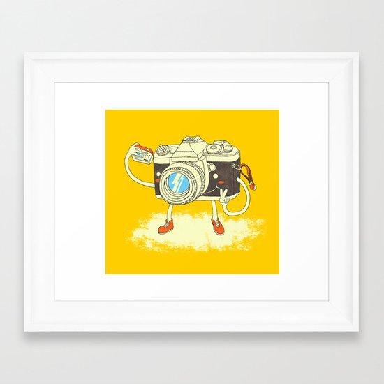 Self capture Framed Art Print
