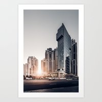 Dubai Sky Art Print