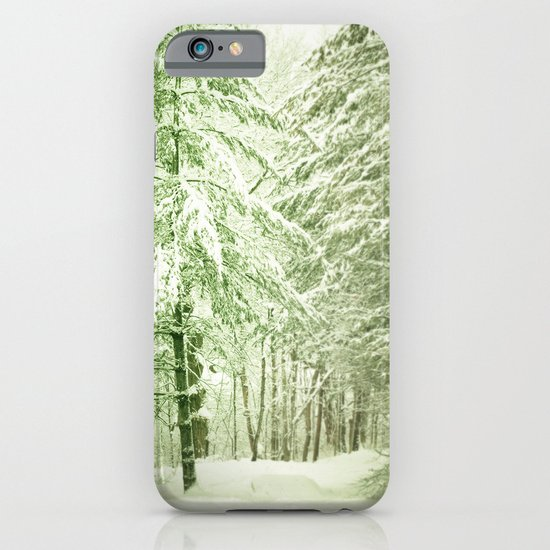 Winter Pine Trees iPhone & iPod Case