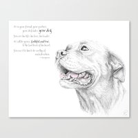 Murphy :: Loyalty [with Quote] Canvas Print
