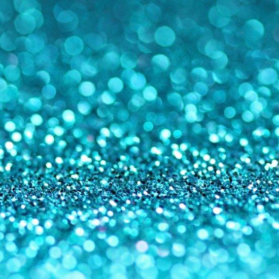 turquoise glitter (photograph of glitter) Art Print
