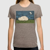 Three Sheeps to the Wind Womens Fitted Tee Tri-Coffee SMALL