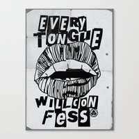 EVERY TONGUE CONFESS Canvas Print