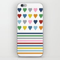 Hearts Stripes iPhone & iPod Skin