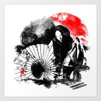 Dark Geisha Art Print