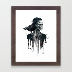 Zombie and Crow Framed Art Print
