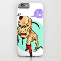 iPhone & iPod Case featuring angry guy by thinKING