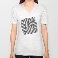 Black Stripes Unisex V-Neck