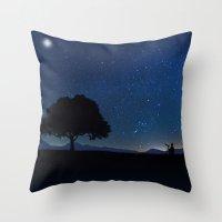 Star Watcher  Throw Pillow