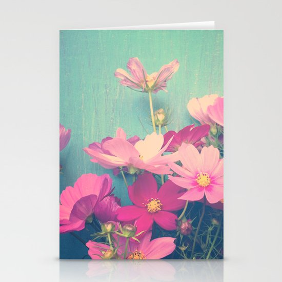 Pink Cosmos Stationery Card