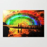 Romantic Sunset Reflecti… Canvas Print