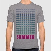 Summer time Mens Fitted Tee Athletic Grey SMALL