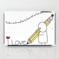I Love You...  iPad Case