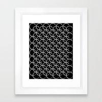 Brushed Circles Inverse Framed Art Print
