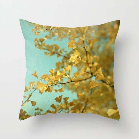 Ginkgo #3 Throw Pillow
